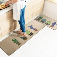 Carpets 1 2 PCS Set Kitchen Floor Mat Non Slip For Living Outdoor Anti Fatigue Comfort Standing Mats Waterproof Rugs Supply