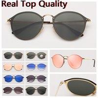 Moda Womens Sunglasses Blaze Vintage Sun Óculos de Sol Cat Mens Sunglass Des Lunettes de Soleil UV400 Lentes de proteção com estojo de couro livre