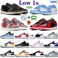 Низкий воздух Джордан 1 Баскетбол Обувь 1S UNC Reform Reverse Mens Спортивные тренажеры Royal Toe Лазер Оранжевый Университет Синий Черный Свет Дым Серые Кроссовки Мужчины Женщины Chaussures