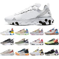 free socks 2021 React Element 87 55 UNDERCOVER Women Men Running Shoes Schematic white Desert Sand Worldwide Pack Anthracite mens trainers Sports Sneakers