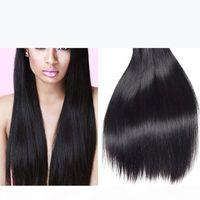 New Arrival Malaysian Straight Human Hair Natural Black 3 Bundles Lot 7a Raw Virgin Hair Brazilian Indian Peruvian Cheap Hair Extensions
