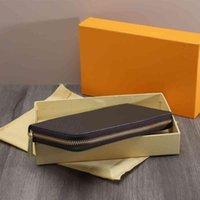 5A длинные одновременные кошельки на молнии для женщин кожаный кошелек кредитная карта zip кошелек с заливным клипми подарочная коробка оптом цена вне заводской магазин продажи 60017