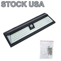 Outdoor Solar Lamps PIR 118 LED Motion Sensor Street Wall Lights IP65 Waterproof 270° Wide Illumination Angle Easy Install Security Light for Driveway, Front Door, Yard