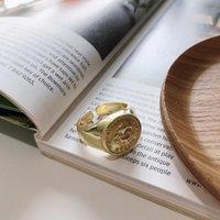 Cluster Anéis Xiha Real 925 Sterling Silver para Mulheres Crânio Esqueleto Aberto Ajustável Ring Declaração Punk 18 K Jóias De Ouro