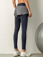 Simpold Sportwear 바지 두 레이어 비밀 높은 허리 요가 주머니 탄성 피트니스 스타킹 조깅 체육관 Clothessoccer Jersey