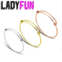 LadyFun 10pcs 스테인레스 스틸 팔찌 팔찌 결코 쥬얼리를 만드는 Q0720에 대 한 조절 패션 쥬얼리 와이어 케이블 팔찌