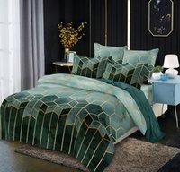 Bedding Sets Green Geometric Duvet Cover Set 3pcs Marble Print Design Queen King Size Comforter 220*240