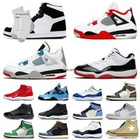 Jumpman 1 Mid Basketball Chaussures 1S Mens Mens Femmes Dunks Low Designer Cactus Jack 4 4S X Stock Concord High 11 25ème 11ème entraîneurs Sports