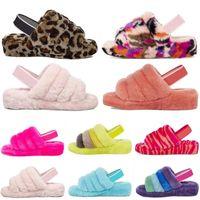 Gucci Designer Austrália Mulheres Fluff Oh Fuzz sim Cozette Disco Verificador Scuffette Fluffita Womens Slide Australian Fury Furry Silppe IAB