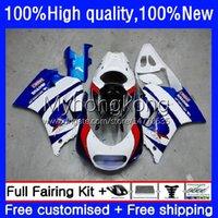 Fairings Kit For SUZUKI 250CC RGV250 SAPC VJ21 RGVT250 Body 31No.9 RGVT-250 RGV-250 VJ22 88 89 90 91 92 93 RGVT RGV 250 1988 1989 1990 1991 1992 1993 White blue new Bodywork