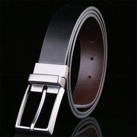 Reversible Men's Belt Designer Luxury Brand Leather Male Belts for Men Pin Buckle Trouser Belt Men Business Mens Belts for Jeans 210918