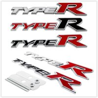 Car Styling Metal Emblem Stickers Badge Decals for Type-R Type R Logo for Honda CRV Pilot CRZ Odyssey City Jazz Accord Civic HRV