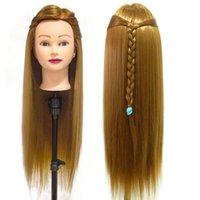 70 cm Uzun Saç Manken Kafası Saç Modelleri için Profesyonel Eğitim Kafası Kuaförlük Model Kafa Hediye Ile Uygulama Saç Model