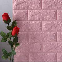 70 * 77 10 unids 3D Pegatina de pared de ladrillo DIY Decoración autoadhesiva Espuma Impermeable Fondo de pantalla para niños Pegatinas de la cocina 1322 V2