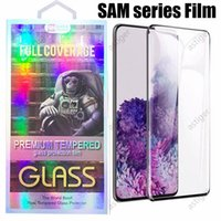 3D Curved Tempered Glass Phone Screen Protector For Samsung Galaxy S21 S20 Note20 Plus Ultra S10 S8 S9 GLASSes with Retail Package