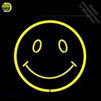 Néon signes pour sourire visage néon ampoules signe soleil et lune véritable tube de verre décorer le mur Néon Light Maker Dropshipping