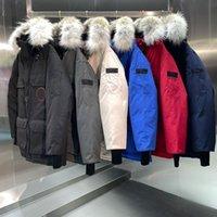 겨울 남성 다운 코트 퓨전 보닛 코트 따뜻한 여자 베이지 블루 재킷 폭격기 모피 칼라 탐험 -X-XXL