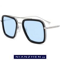 Gafas de sol Pole Titanium Acetate Polarized Sunglass Hombres Tony Stark Sunglasses 2021 Nuevas gafas de sol Edith para mujeres 1193