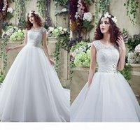 Empire кружевные свадебные платья 2020 весенние свадебные платья с бисером с бисером поездов Уровень поезда Tulle Vestido de Novia CPS243