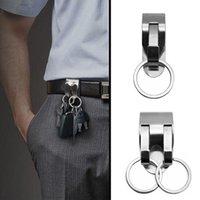 Keychains Stainless Steel Keychain Safety Heavy Belt Key Clip Detachable