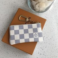 "LV ""Louis""Vitton Vutton 디자이너 Luxurys 지갑 핵심 파우치 Pochette Cles 여성 망 열쇠 고리 신용 카드 홀더 코인 지갑 미니 지갑 먼지 가방"