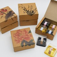 Brown Kraft Paper Gift Wrap Packaging Boxes Baking Mooncake Box Cake Biscuit Candy Package