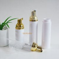 30ml 60ml 80ml 100ml Gold Foam Pump Bottles, Empty Mousse Facial Cleanser Foaming Containers, Shampoo Cleaning Refillable, Travel, Personal Care