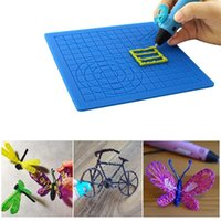Printers 3D & Scanners Multipurpose Printing Pen Template Soft Silicone Mat Drawing Tools Children Gift Copy Board With Fingerstall Pprinter Accessories ETJX