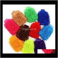 Otra organización de limpieza Casa Jardín Drop Drop Entrega 2021 Microfibra Chenilla Limpieza Guantes de coral Fleece Anthozoan Sponge Lavar Paño C