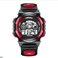 Factory Direct Childrens Boys Quartz Watches Seven Color LigWaterproof Student Electronic Watch Luminous Alarm Digital Wristwatchesht Gift For Children