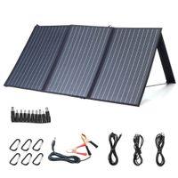 100W 18V 태양 전지 패널 3-USB + DC PD 빠른 충전 옥외 방수 태양열 충전기 캠핑 여행 자동차 RV 충전기