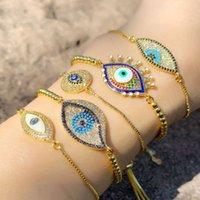 Altri braccialetti Personalizzano il braccialetto per la gocciolamento del diavolo dell'occhio del diavolo vari stile fresco Blue BRB77