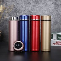 Smart Lid Stainless Steel Intelligent Thermos Cups Water Bottle Temperature Display Vacuum Portable LED Screen Insulation Mugs BH5293 TYJ