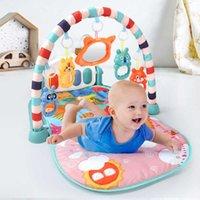 QWZ Baby Activity Gym Play Play Mat 0-12 Meses Desarrollar Alfombra Soft Rattles Musical Juguetes Actividad Alfombra para bebés Juegos 210907