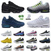 ВоздухМаксимумAirmax 95 95s og кроссовки для мужчин женщин большой размер нам 12 тройной черный белый Какой неоновый мир Yin Yang лазерный фуксия спортивные кроссовки кроссовки 36-46