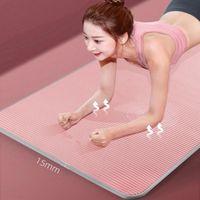 Yoga Mats 15mm Mat Carpet Non-slip Sports Tear Resistant NBR Fitness Gym Pilates Pads With Bag & Strap