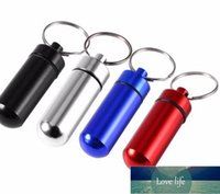 Waterproof Aluminum Case Bottle Keychain Metal Holder Container for Travel Camping Hiking
