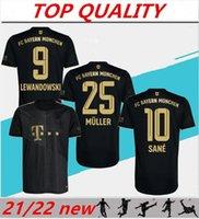 21/22 Lewandowski Jerseys de futebol afastado Black Muller Jersey 2021 2022 Mailot de Foot Hummels Sane Camisa de futebol