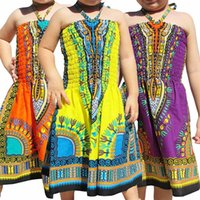 Baby Girls Beach Dress African Printed Elastic Lace Sling Dresses Kids Lersure Clothes Girls Casual Outfits Toddler Lersure Apparel 06