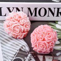 Strumenti artigianali Bouquet 3D Fiore Silicone Candela Stampo Fondant Rose Ball Decor Decorsi da sposa Cottura fai da te Candy Cioccolato Sapone Sapone Aroma Stampi