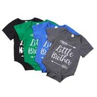 طفل الرضع الصبي الملابس رومبير فتاة إلكتروني الطباعة قصيرة الأكمام السروال القصير الرومانس تسلق 100٪ القطن الصيف القماش GWC7373