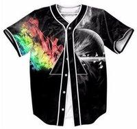 Homme Chemise 3D Digital Imprimer Baseball Chemises Casual Homme À manches courtes T-shirts Tops