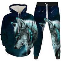 الرجال رياضية الذئب المطبوعة هوديس الرجال 3d العلامة التجارية سوياتشيرتس الصبي جاكيتات الجودة البلوز الأزياء الحيوان الشارع الشهير خارج معطف