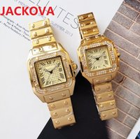 luxury women men diamonds ring watch Fashion Full Stainless Steel Dress Watches Square Roman Dial Designer Quartz Sapphire WristWatches luminous montre de luxe