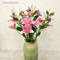 Dekoratif Çiçekler Çelenk GAO ZHI 6 Zambak Yapay Çiçek Ev Alışveriş Merkezi Dekorasyon Düğün Mekan Layout 10 Parça