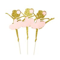 Other Festive & Party Supplies 10Pcs Cake Toppers Paper Dress Fruit Picks Dessert Table Decorative