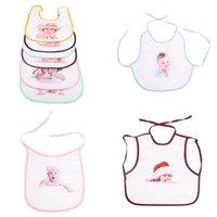 Waterproof 0-3Y Kids Baby Infants Bib DIY Blank Sublimation White Handkerchief Thermal Transfer Heat Printing Bibs Saliva Towels Scarf Newborn Burp G73VFLQ