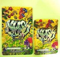 Größe 3,5g oder 7g Kush Rush Exotics Taschen wiederveralable Reißverschluss-Siegel für Frische kinderfeste S-Verpackung Mylar-Taschen 2021 500mg FGFG