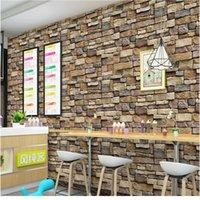 Piedra de ladrillo autoadhesivo papel tapiz impermeable Papel de pared Etiquetas de papel para la cocina Dormitorio Sala de estar TV Fondo Wal Fondos de pantalla