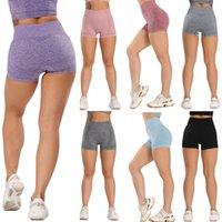 Taille haute Énergie Souffe de Yoga Shorts de remise en forme Fitness Workout Vêtements Push Up Hip Gym Shorts Sports Running Femmes Gym Leggings